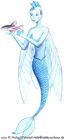 A mermaid-like fairy, with a fish tail, wings resembling flying fish fins, and a fin instead of hair