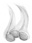 Pencil drawing of three seeds with a ridged texture from which black smoke or fog rises.