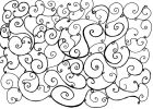 Abstract ink line drawing consisting of spirals and loops forming a pattern