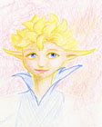 Colour pencil portrait of Dawn, a fariy from the movie Strange Magic.