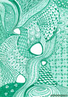 Abstract patterns drawn in green pen
