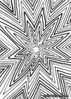 Abstract black and white ink drawing, a starburst